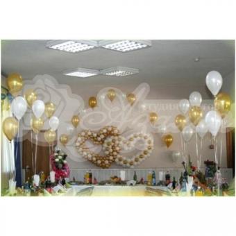 Оформление шарами на свадьбу «Комплект № 27»