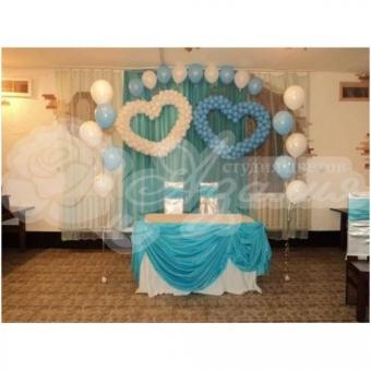 Оформление шарами на свадьбу «Комплект № 29»