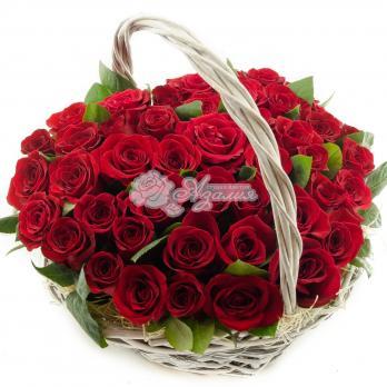 Корзина из 45 Эквадорских роз