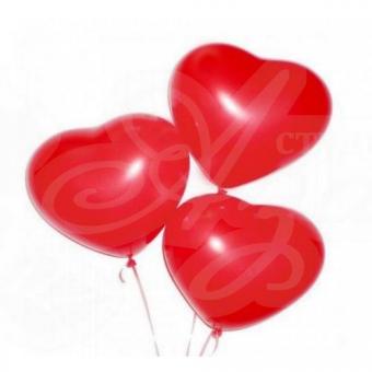 """Гелиевые шары """"Сердце"""" поштучно"""
