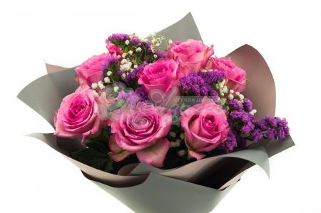 Букет из 9 роз с зеленью