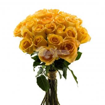 Букет из 25 желтых Эквадорских роз