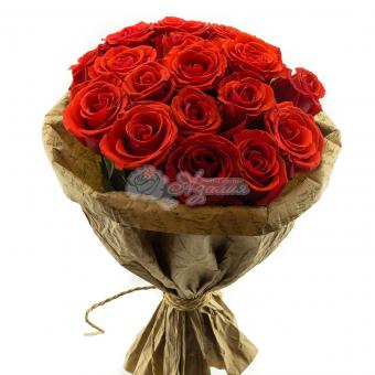 Букет из 17 Эквадорских роз
