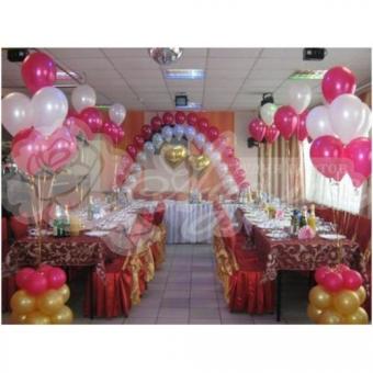 Оформление шарами на свадьбу «Комплект № 6»